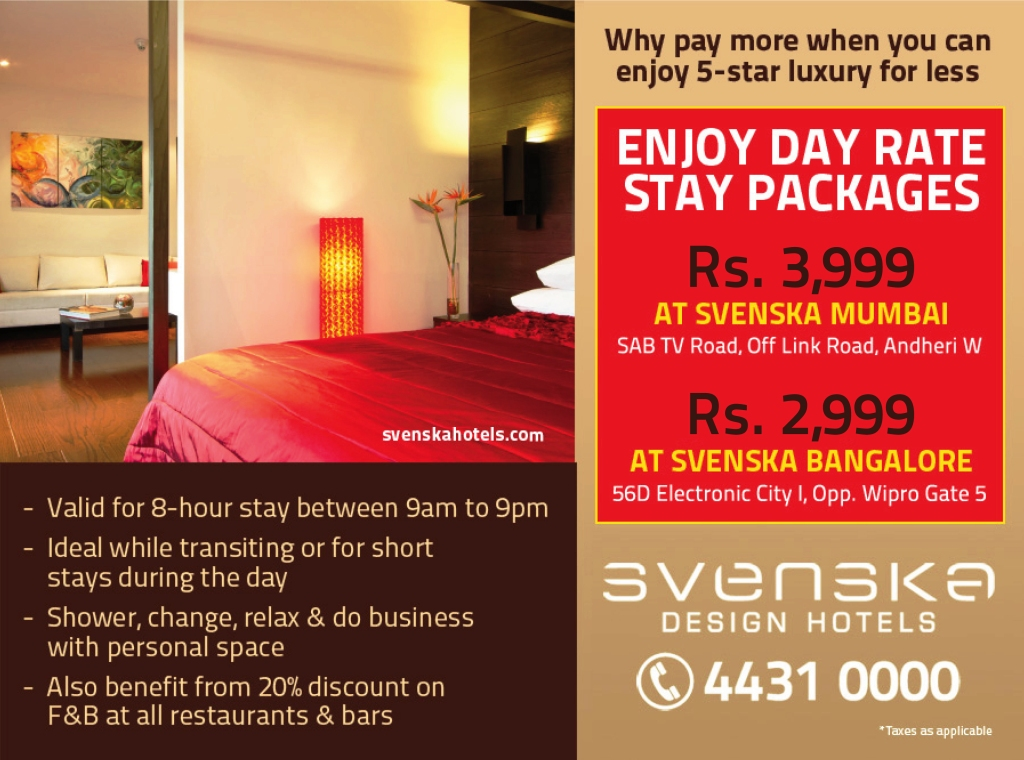 Day Use Stay Packages at Svenska Design Hotels